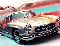Mercedes 300sl artwork