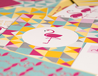 PINK FLAMINGO POSTCARDS AND POSTER SERIES