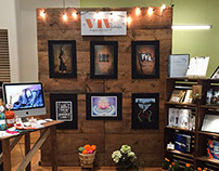 My booth at Portfolio Show