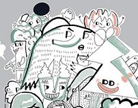 Przeludnienie/ Ilustracja dla Magazynu Slow