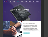 Web Services Website Design UI Free PSD
