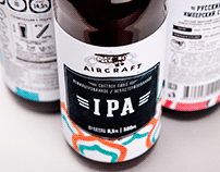 Aircraft. Beer packaging