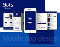 Buta telecom mobile app design