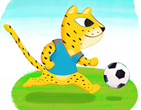 Football Animals kidlitart worldcup 2018