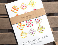 Watercolor Fruit Calendar 2016 - Food illustration