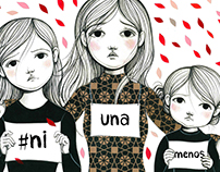 #Ni una menos - Ilustración para campaña de Ed. Quipú
