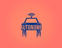 Autonome - A driverless car themed logo