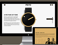 Picto Watches - One page site