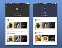 News Feed Screen App Design