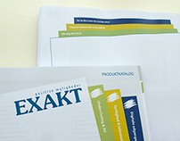 Product catalog, printed, Exakt