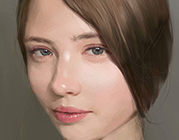 realistic painting (Face)