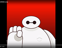 Baymax Wave and Blink Looping Animation