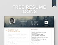 FREE Resume Template + Icons (Self Promotion)