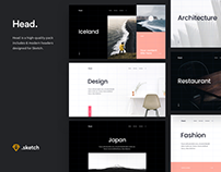 Head Sketch UI Kit
