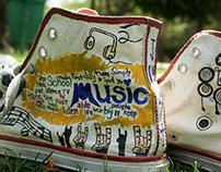 I Music I Hand Painted Shoes I