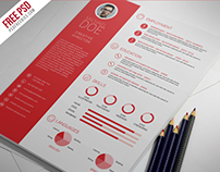 Freebie : Clean And Professional Resume Free Psd