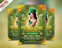 Free PSD : Saint Patrick's Party Flyer PSD Template