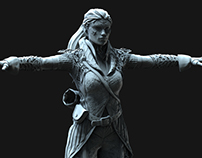Dark Elf - WIP 3D Sculpture