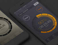 Free mockups of timer dashboard Iphone 7