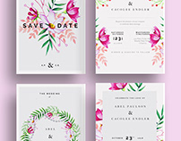 Wedding invitations (Garden Flowers)