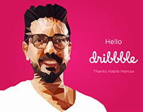 Stop by and say hello to me on Dribbble now :)