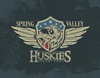 Retro Vintage LOGO Design | Spring Valley HUSKIES logo