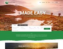 Trekking Spot Home Page Design