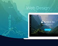 """Kristal Su"" web and mobile app design"