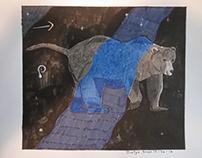 Inktober 2016 #8: Ursa Major constellation drawing