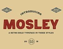 Mosley - a retro bold typeface