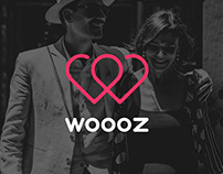 Woooz dating application logo design