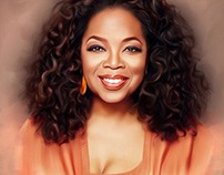 Oprah Digital Oil Painting by Wayne Flint