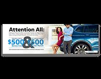 Volkswagen Web Banners Design