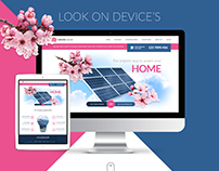 Sakura Solar Website Design