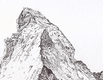 Stippling - Matterhorn
