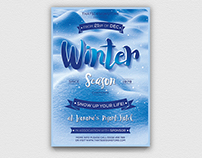 Winter Season Flyer Template V4