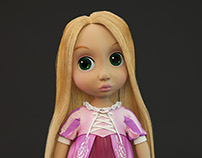 3d model of Rapunzel doll