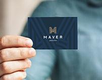 Logotipo Maver - construction firm