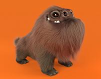 Furry Dog Creature