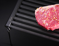 BISON Rolling Grill for backpacking campers