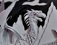 Paper Sculpting : Dragon