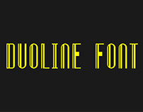 Duoline Font Design