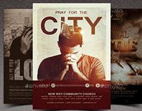 Prayer Walk Church Flyer Template Bundle