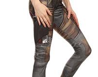 Comic Gun Leggings