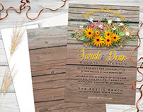 Rustic Floral Weddings | Invitations