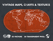 Vintage Vector Maps, Charts & Textures