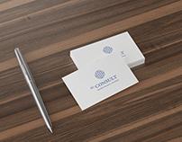 EU Consult - logo, branding, print.