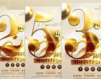 Golden Anniversary Flyer Template