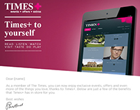 The Times+ Email Design