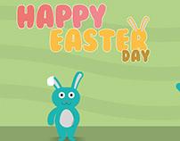 "Illustration et animation ""Happy Easter day"""